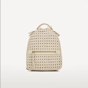Zara Woven Backpack